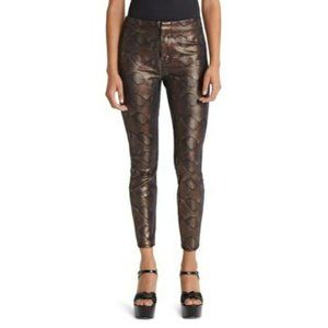 MOTHER The Looker Snakeskin High Waist Seamless Ankle Pants NWT Size 26